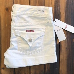 Hudson Crowley White Flap Pocket Shorts NWT